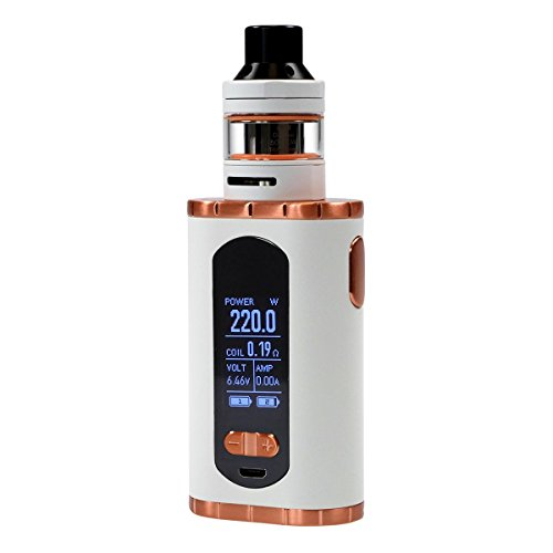 Eleaf Invoke Kit 220 Watt mit ELLO T Clearomizer 2 ml / 4 ml, Riccardo e-Zigarette, weiß