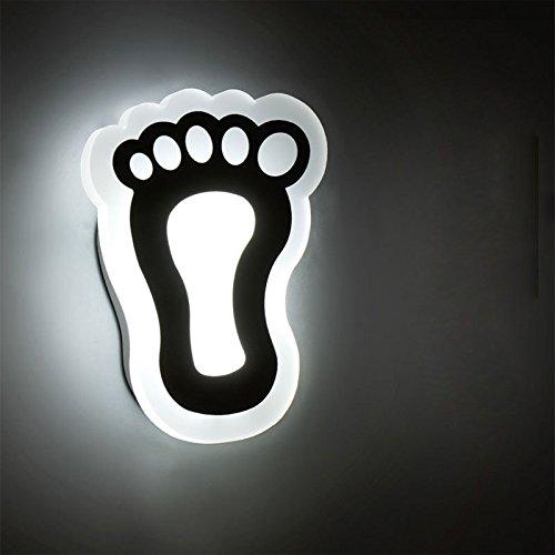 YALI Wandleuchte Moderne Minimalistische LED Nachttischlampe Schlafzimmer Kreative Continental American Wohnzimmer Treppe Ganglichter Balkon Lampen,EIN,Monochromes weißes Licht