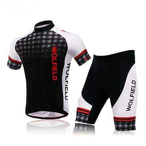Lixada Fahrrad Trikot Bike Jersey+ Shorts atmungsaktiv Reiten Jacke Hose für Outdoor Radfahren (Aufgrund Short Cycling)