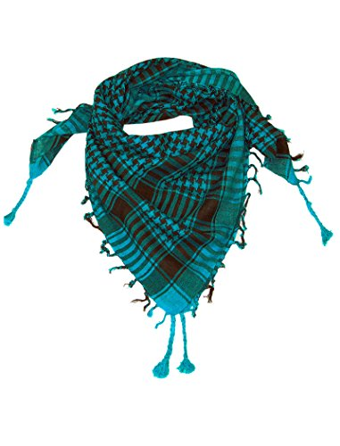 Turquoise Blue Lovarzi Desert Scarf - Stylish Keffiyah Shemagh Fashion Scarfs for Men and Women