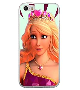 Fuson Premium Beauty Metal Printed with Hard Plastic Back Case Cover for Apple iPhone 5