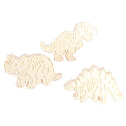 zreal 3PCS/Set Dinosaurier-Form Cookie Cutter Backform Küchengeräte Kochen Tools Dekorative 3D Biscuit Dessert Fondant Kuchen-Backform