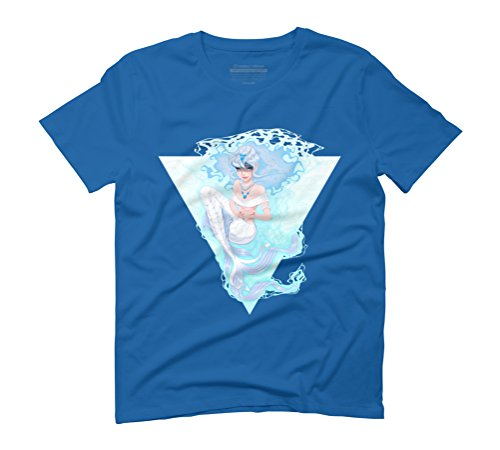 Mermaid In Love Men's Graphic T-Shirt - Design By Humans Royal Blue