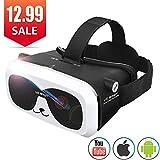 3D VR Brille Virtual Reality Headset für 3D Filme Spiele Einstellbare Brennweite Kompatibel mit iOS...