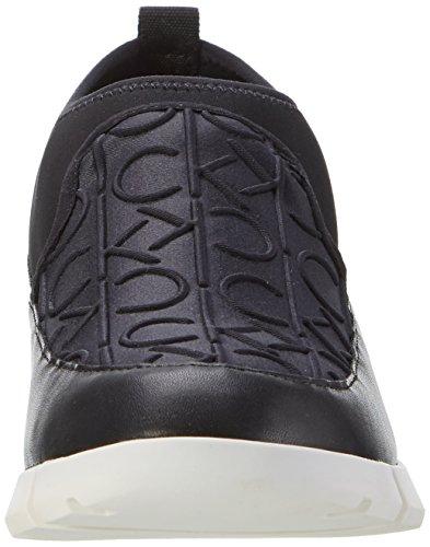 Calvin Klein Winona Ck Emboss Neoprene/Neop, Sneakers Hautes Femme Noir (Blk)