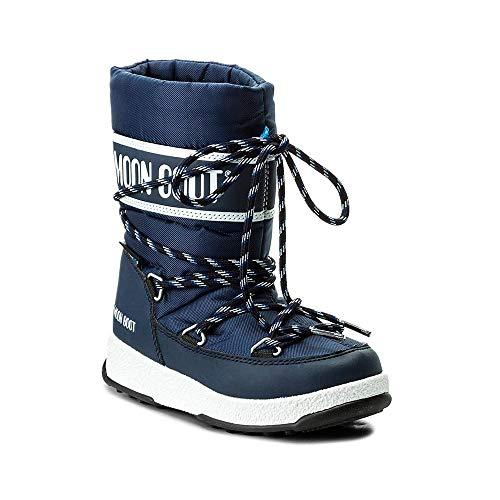 Moon Boot, Jungen Trekking- & Wanderhalbschuhe, Blu Navy/Bianco - Größe: 37 EU