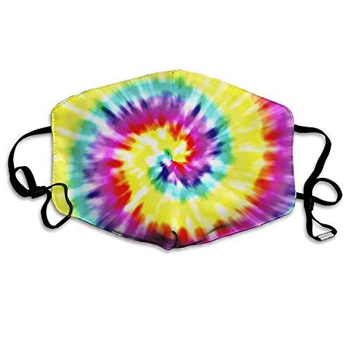 Frauen Tye Dye (Angie Yates Einzigartige Tye Dye Art Grippe-Staubmasken Atemschutzmaske für das Radfahren im Freien Ohrbügelmasken Staubpollen Grippe Keime Allergene Masken)