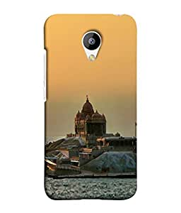 PrintVisa Sea Side Temple 3D Hard Polycarbonate Designer Back Case Cover for Meizu M2