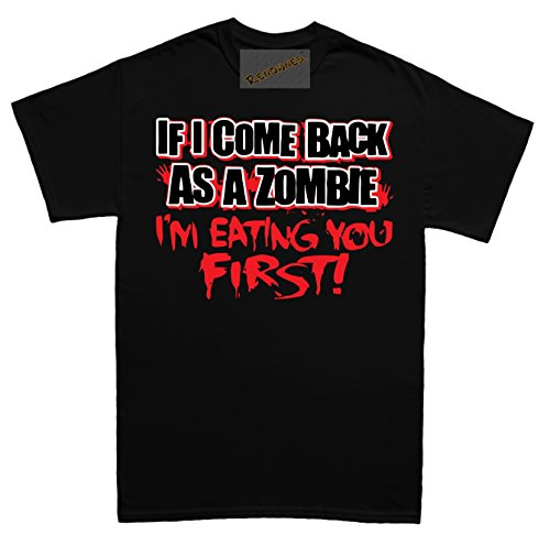 Renowned If I come back as a zombie I'm eating your first Unisex - Kinder T Shirt - Schwarz - LARGE-KIDS (Digital Last The Us Of)