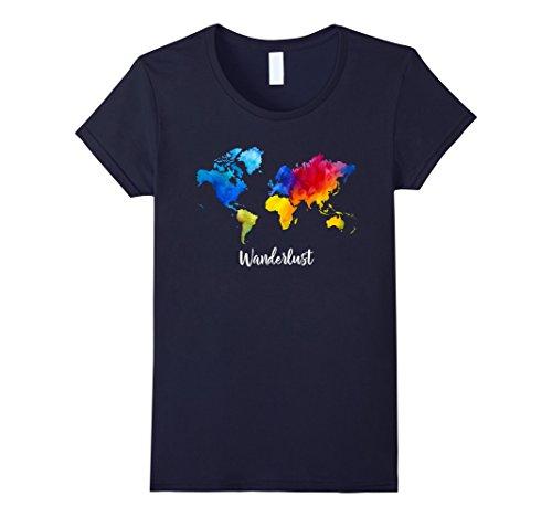 wanderlust-watercolor-world-map-quote-t-shirt-damen-grosse-m-navy