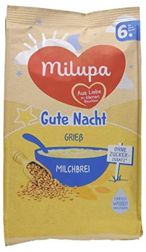 Milupa Gute Nacht Milchbrei Grießbrei, 5er Pack (5 x 400 g) -