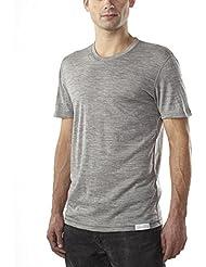Woolly Clothing Co - Cuello redondo ultraligero lana merino para hombres (150 GSM)