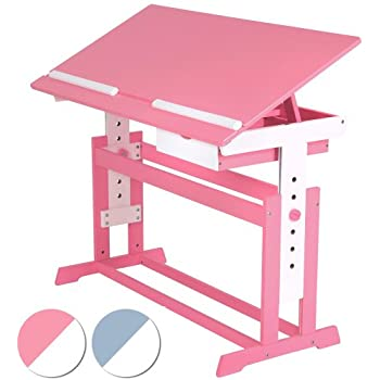 Infantastic Childrenu0027s Desk (Choice Of Colours) Kidsu0027 Study Writing Table    Pink