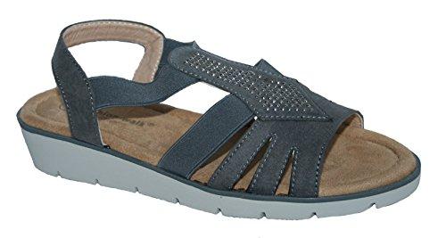Cushion Walk Damen Slingback, Grau - Grey Elastic - Größe: 39 (Damen-cushion Walk)