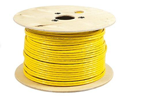 BIGtec 250m CAT.7 Verlegekabel duplex gelb Gigabit Kabel doppelt geschirmt / halogenfrei 10Gbit 10 Gigabit Netzwerkkabel CAT.7 1000Mhz SFTP S/FTP CAT7 Netwerkkabel Installationskabel PIMF CAT.7 Kabel