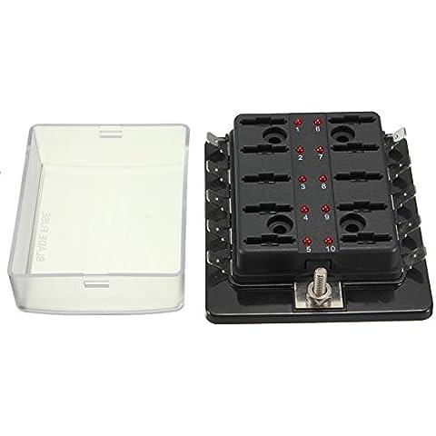 1 potere in modo 10 scatola dei fusibili lama circuito (Numerato Parte)