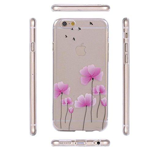 ECENCE APPLE IPHONE 6 6S (4,7) COQUE DE PROTECTION HOUSSE CASE COVER 41020404 Fleurs rose