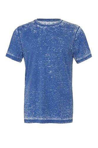 Bella, maglietta manica corta unisex, in policotone True Royal Acid Wash