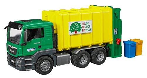 MAN TGS Müll-LKW Hecklader grün/gelb (Grün Spielzeug-müll-lkw)