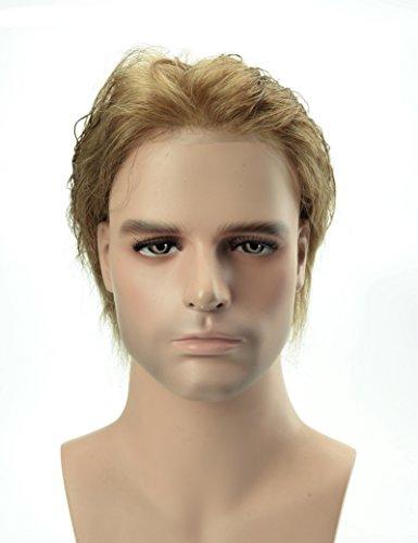 Lordhair Peruecke Maenner 0.03mm Ultra Thin Skin Toupet Blond Farbe Hair Replacement System 18# Toupet für Männer