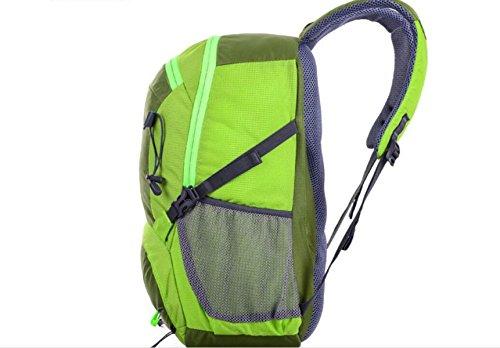 LQABW Outdoor-Reisen Weiblich Große Kapazitäts-Schulter Männliche Beiläufige Computer-Tide Reiten Bergsteigen Wasserdichter Rucksack-Tasche Green