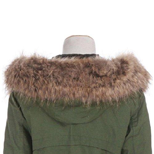 Hee Grand Damen Winter Thicken Fleece Kunstpelz Warmen Mantel Mehrfarbig