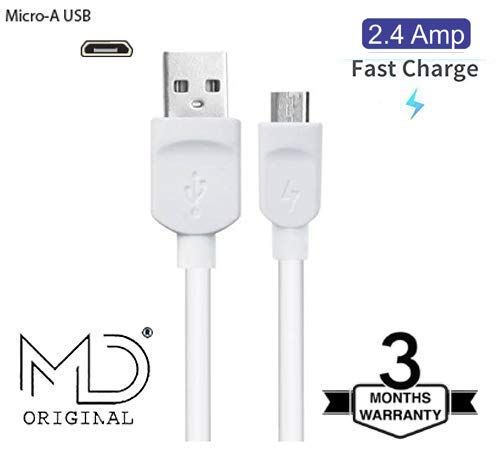 MD 2.4 Amp Ultra High Fast USB Charging Data Cable for Oppo A7 3GB RAM