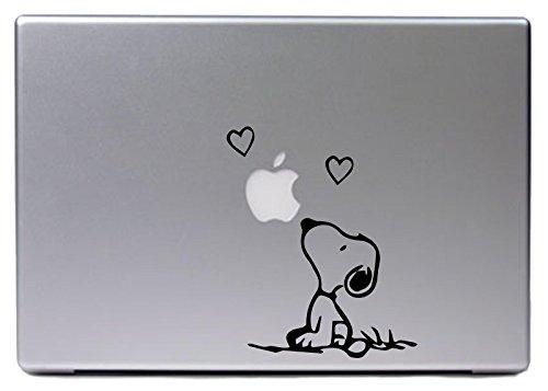 """Hellweg Druckerei Decal in deiner Wunschfarbe MacBook Air Pro 13"""" 15"""" für Snoopy Fans Peanuts 12x15 cm Laptop Aufkleber Sticker Skin"""