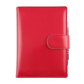 """Anpassbarer Terminplaner/Notizbuck/Agenda""""Basic"""" 17×24 täglich/wöchentlich – Handmade in Italy – rot"""