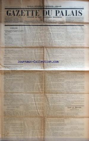 GAZETTE DU PALAIS [No 173] du 21/06/1934 - SOMMAIRE - CONFERENCE GENERALE DES PRESIDENTS ET MEMBRES DES TRIBUNAUX DE COMMERCE DE FRANCE DU JEUDI 21 JUIN 1934 - LOIS ET DECRETS - DECRET - COURS ET TRIBUNAUX - COUR DE CASSATION - COUR D'APPEL D'AMIENS - VARIETES - ECHOS DU PALAIS - BULLETIN FINANCIER - COURRIER DES THEATRES