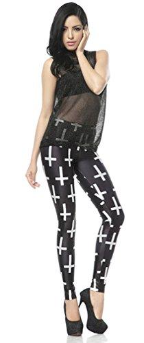 Thenice Damen Leggings Mehrfarbig mehrfarbig Einheitsgröße kruez