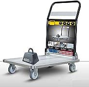EuroLadderSystems USA Pro Aircraft Aluminium -Silicon Portable Platform Trolley (3 x 2 ft -400 kg Load Capacit