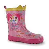Disney Princess Wellington Boots Childs Pink Wellies Welly Gum Boot