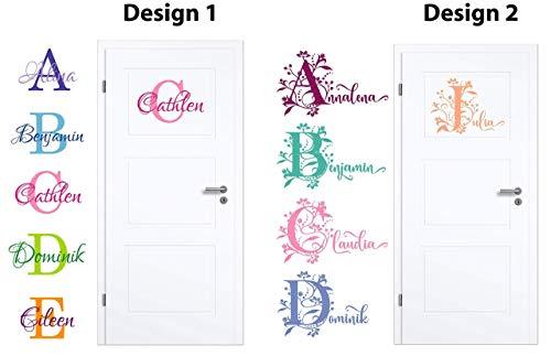 NEU Aufkleber/Sticker für Kinderzimmer - Wände,Türen, Autoscheiben/Lack uvm ***BUCHSTABE mit WUNSCHNAMEN***(Größen.- und Farbauswahl) - Möbel Zieht