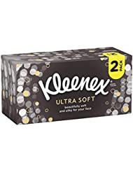 Kleenex Ultra Soft Tissues, White, 2 Boxes, 128-Sheet