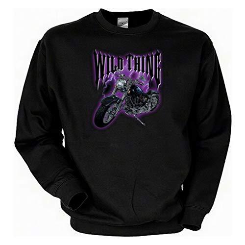 Biker Sweat-Shirt - Motorrad Biker Wild Thing - Langarm-Shirt für echte Kerle