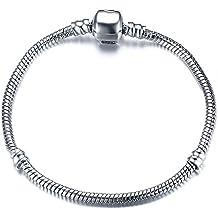 DIY Vnox Plaqué argent de la chaîne de serpent de Charms Charms pour Bracelet de filles Meilleur cadeau des femmes
