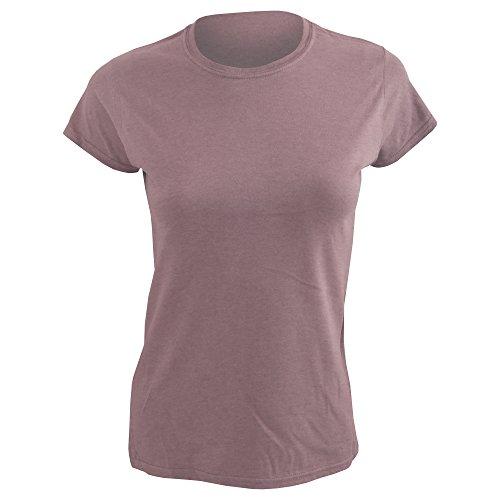 T-shirt à manches courtes Gildan pour femme Rouge - Heather Maroon