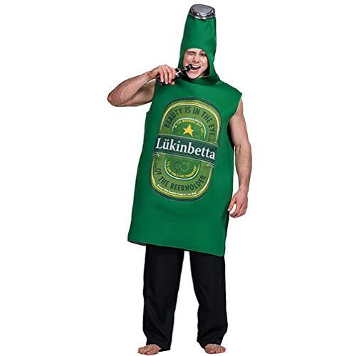 SHANGLY Halloween Kostüme Für Männer 3D Bier Cosplay Karnevalsfeier Lose Onesies Kleider (Halloween-kostüm-ideen Einzigartige Männer)