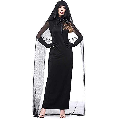 GLXQIJ Halloween Böse Deluxe Damen Hexe Halloween Kostüm Mit Umhang, Legends of - Deluxe Böse Hexe Kostüm