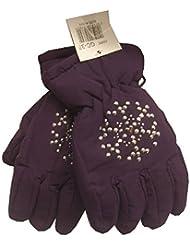 i-Smalls Girl's Thermal Ski Snowboard Studded Heart or Snowflake Design Gloves
