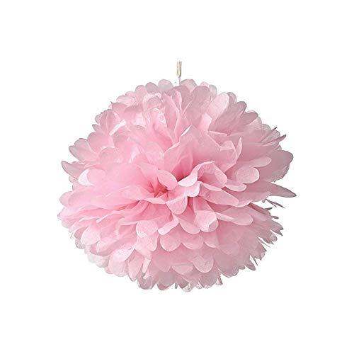 JER 10pcs Papierblumen, Seidenpapier Pompons Quasten Seidenpapier Dekorationen Blumen, Polterabend, Hochzeit, rosa 14inch hängen. Home Dekoration