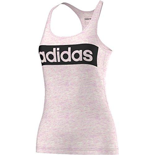 adidas Damen Essentials Linear Tanktop, Halo Pink Vis Mel