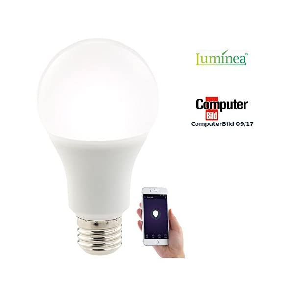 Luminea Smarthome-LED-Lampen: WLAN-LED-Lampe, komp. mit Alexa Voice ...