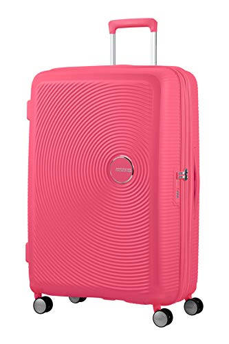 American Tourister Soundbox Spinner Large Expandable Bagaglio A Mano, 77 cm, 110 Liters, Rosa (Hot Pink)