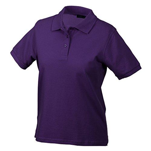 JAMES & NICHOLSON Hochwertiges Polohemd mit Armbündchen Purple