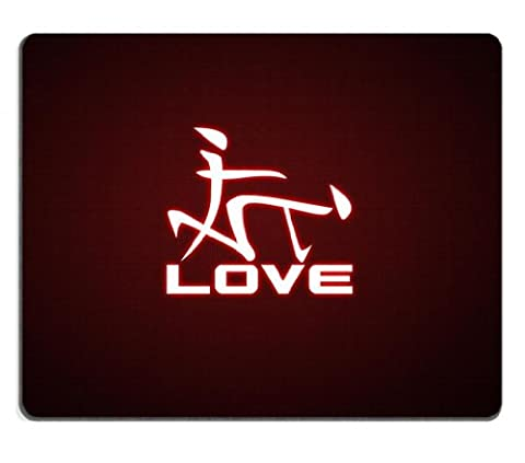 Love Stick Figure Symbol Couples Mouse Pads Customized Made to Order Support Ready 9 7/8 Inch (250mm) X 7 7/8 Inch (200mm) X 1/16 Inch (2mm) High Quality Eco Friendly Cloth with Neoprene Rubber Liil Mouse Pad Desktop Mousepad Laptop Mousepads Comfortable Computer Mouse Mat Cute Gaming Mouse_pad