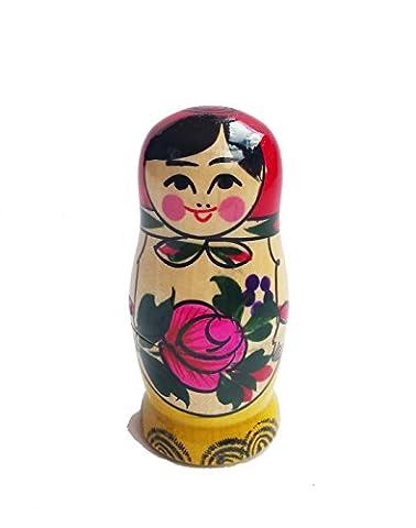 russe Matriochka Poupées gigognes fabriquée à la main classique 4pièces 9cm en bois Cadeau jouet