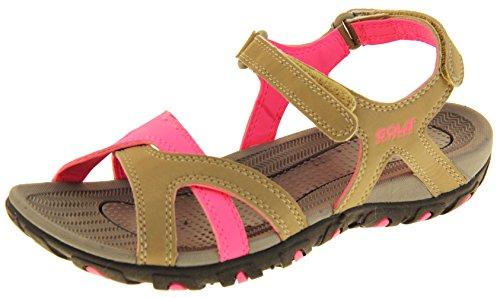 Gola donna marrone chiaro e rosa brillante sandali da escursionismo sandali sportivi eu 40