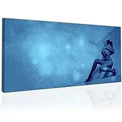 Idea Regalo - Topquadro Quadro XXL, Stampa su Tela 100x50cm, Ragazza Sexy Svestita - Erotismo e Stile - Decorazioni Interni, Immagine Panoramica - Pronto da Appendere
